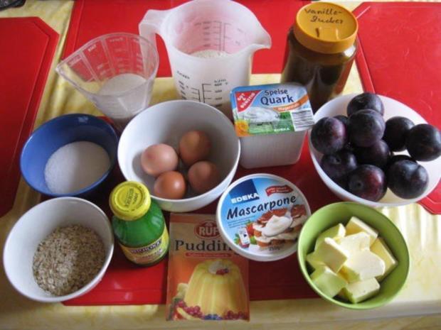 Käsekuchen mit Pflaumen und Streusel - Rezept - Bild Nr. 2