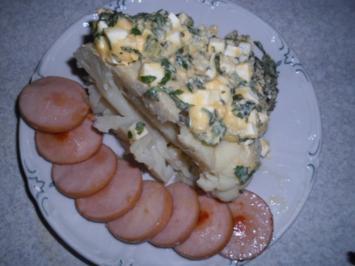 Blumenkohl mit Zitronen-Eiersauce - Rezept