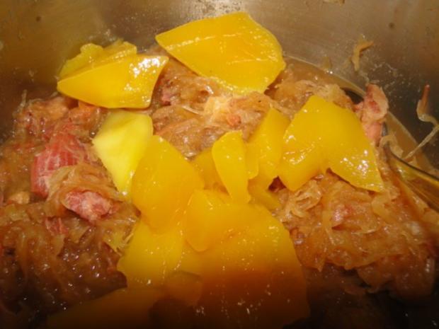 Sauerkraut mit Mango und natürlich mehr mit Katoffelbrei - Rezept - Bild Nr. 4