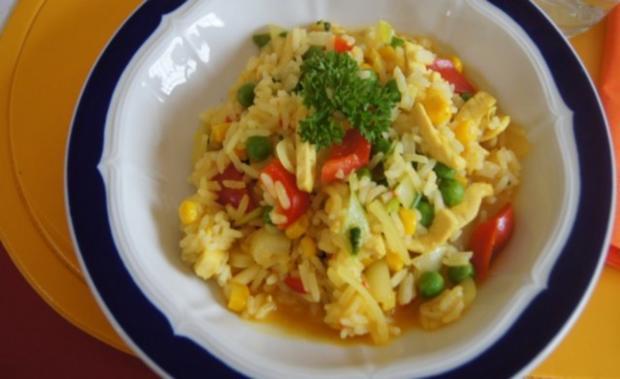 Wok-Hähnchen-Gemüse-Curryreis - Rezept - Bild Nr. 15