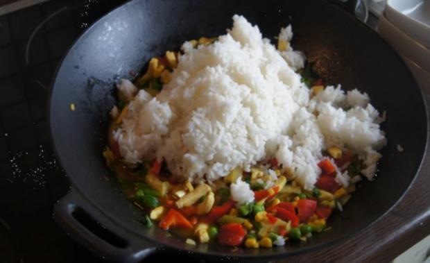 Wok-Hähnchen-Gemüse-Curryreis - Rezept - Bild Nr. 12