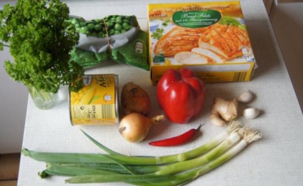 Wok-Hähnchen-Gemüse-Curryreis - Rezept - Bild Nr. 2