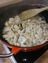 Rezept: Beschwipste Pute in Sahne-Senf-Sauce