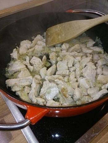 Beschwipste Pute in Sahne-Senf-Sauce - Rezept