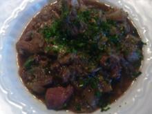 Ragoût d'agneau à la Bruxelloise--- Lamm Ragout nach Brüsseler Art - Rezept