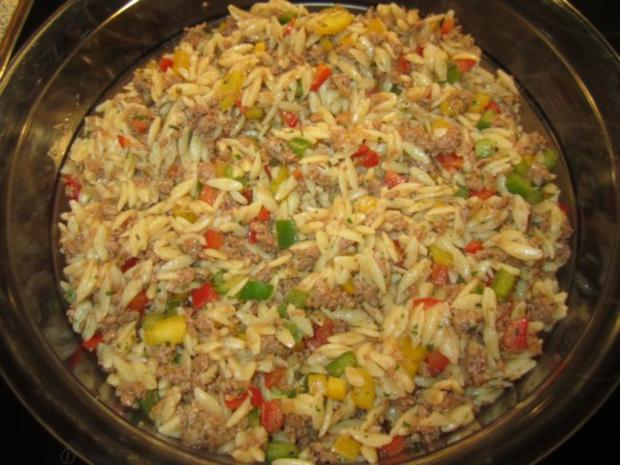 Kritharaki - Salat mit Hackfleisch - Rezept - Bild Nr. 7