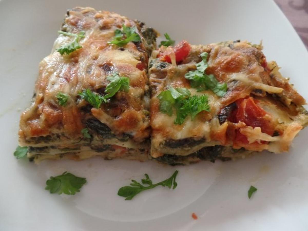 Tomaten Spinat Lasagne