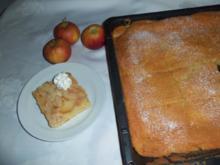 Apfelblechkuchen - Rezept