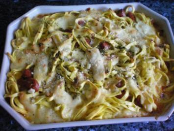 Pasta: Nudelauflauf mit Fettuccine - Rezept