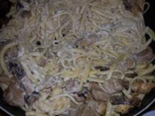 Schweinefleisch mit Pilzen - Rezept