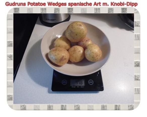 Kartoffeln: Potatoe Wedges spanische Art mit Knobi-Dipp - Rezept - Bild Nr. 2