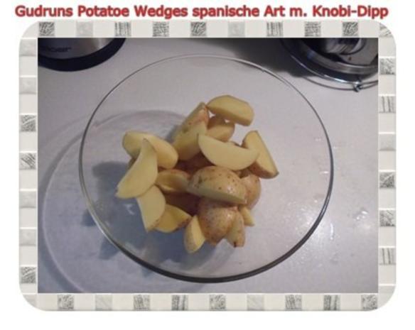 Kartoffeln: Potatoe Wedges spanische Art mit Knobi-Dipp - Rezept - Bild Nr. 3
