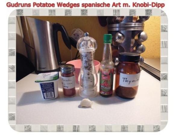 Kartoffeln: Potatoe Wedges spanische Art mit Knobi-Dipp - Rezept - Bild Nr. 7
