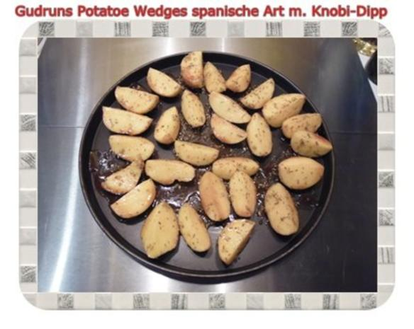 Kartoffeln: Potatoe Wedges spanische Art mit Knobi-Dipp - Rezept - Bild Nr. 9