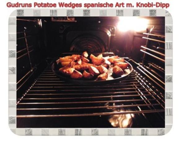Kartoffeln: Potatoe Wedges spanische Art mit Knobi-Dipp - Rezept - Bild Nr. 10