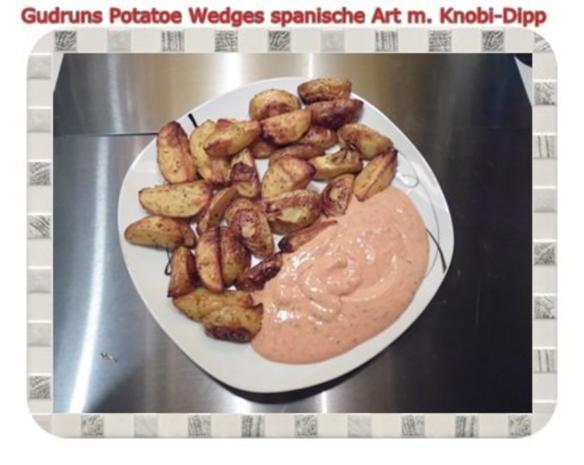 Kartoffeln: Potatoe Wedges spanische Art mit Knobi-Dipp - Rezept - Bild Nr. 11