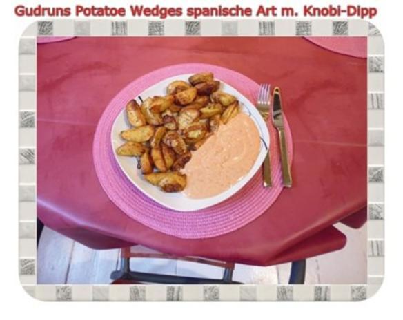Kartoffeln: Potatoe Wedges spanische Art mit Knobi-Dipp - Rezept - Bild Nr. 12