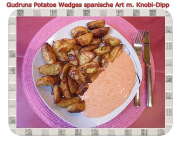 Kartoffeln: Potatoe Wedges spanische Art mit Knobi-Dipp - Rezept - Bild Nr. 13