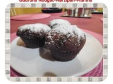 Muffins: Nougat-Marzipan-Muffins - Rezept