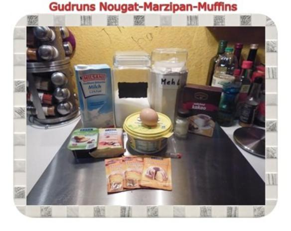 Muffins: Nougat-Marzipan-Muffins - Rezept - Bild Nr. 2