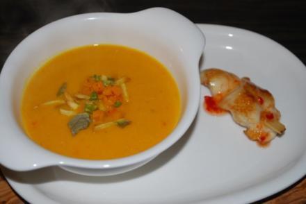 Pikante Kürbis-Kokos-Suppe - Rezept