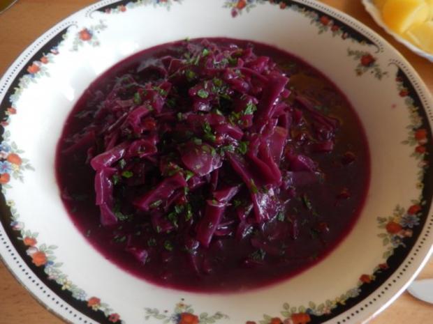 Beilage: Rotkohl mit Johannisbeergelee  selbstgemacht - Rezept