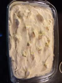 Rezept: Quark-Grieß-Auflauf mit Pfirsichen und Pflaumenpürree