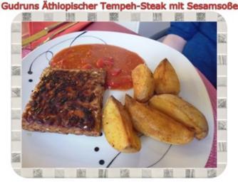 Vegetarisch: Äthiopisches Tempeh-Steak - Rezept