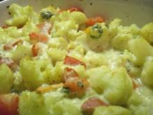 Einfaches Blumenkohl-Gemüse-Gratin - Rezept
