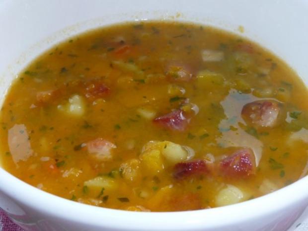 Butternut-Kürbis mit Zucchini, Kartoffeln und Speck - Rezept - Bild Nr. 2