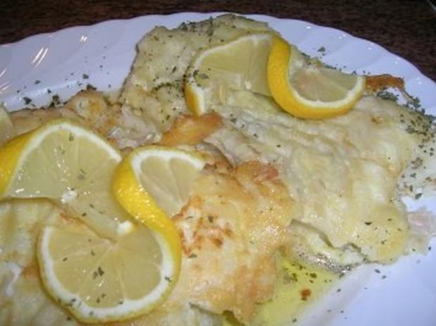 Warmer Kartoffelsalat mit Speck sehr lecker zu Bratfisch hier: Schellfischfilet - Rezept - Bild Nr. 4
