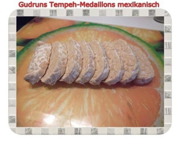 Vegetarisch: Tempeh-Medaillons mit Reis und Lauchsahne - Rezept - Bild Nr. 3