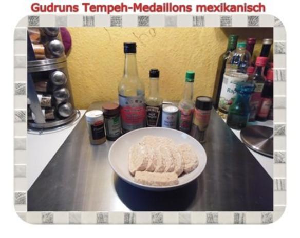 Vegetarisch: Tempeh-Medaillons mit Reis und Lauchsahne - Rezept - Bild Nr. 4