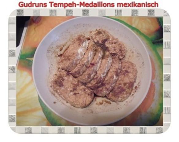Vegetarisch: Tempeh-Medaillons mit Reis und Lauchsahne - Rezept - Bild Nr. 5