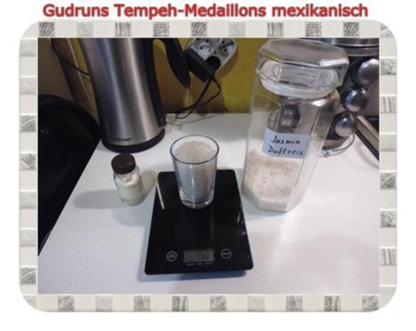 Vegetarisch: Tempeh-Medaillons mit Reis und Lauchsahne - Rezept - Bild Nr. 6