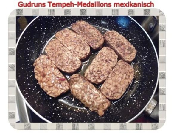 Vegetarisch: Tempeh-Medaillons mit Reis und Lauchsahne - Rezept - Bild Nr. 9
