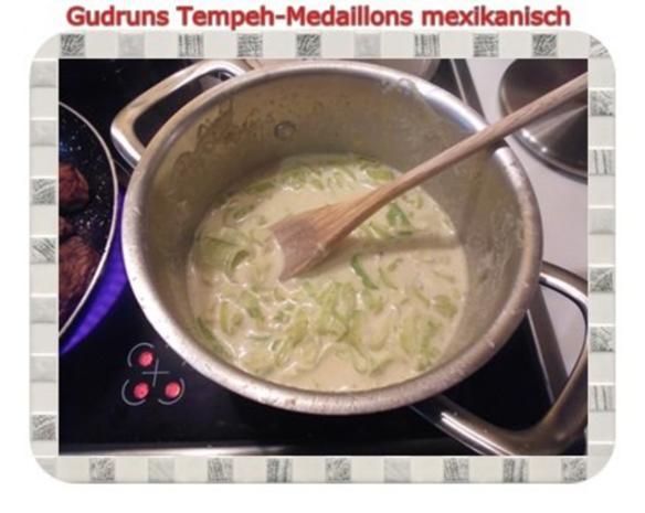 Vegetarisch: Tempeh-Medaillons mit Reis und Lauchsahne - Rezept - Bild Nr. 13