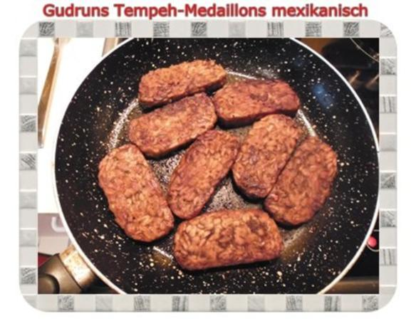 Vegetarisch: Tempeh-Medaillons mit Reis und Lauchsahne - Rezept - Bild Nr. 14
