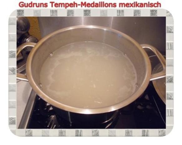 Vegetarisch: Tempeh-Medaillons mit Reis und Lauchsahne - Rezept - Bild Nr. 15
