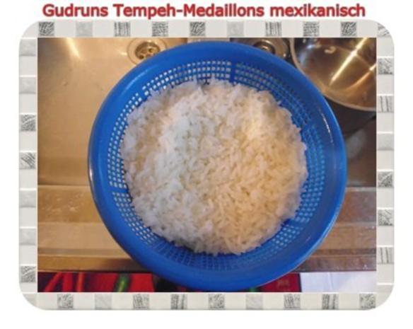Vegetarisch: Tempeh-Medaillons mit Reis und Lauchsahne - Rezept - Bild Nr. 16