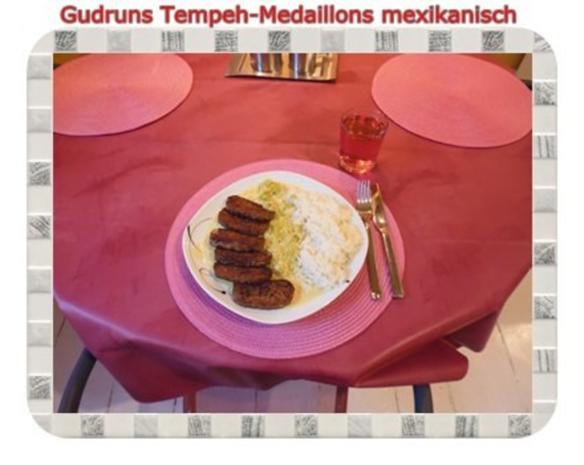 Vegetarisch: Tempeh-Medaillons mit Reis und Lauchsahne - Rezept - Bild Nr. 17