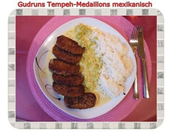 Vegetarisch: Tempeh-Medaillons mit Reis und Lauchsahne - Rezept - Bild Nr. 18