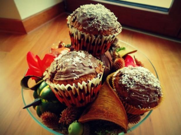 Kürbis-Kokos-Schoko-Muffins - Rezept - Bild Nr. 2