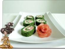 Spinat-Lachs-Frischkäse Rolle - Rezept