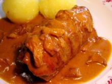 Schweine-Rouladen im Pfifferlingsbad - Rezept
