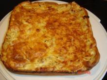 Zwiebelkuchen mit Pizzateig - Rezept
