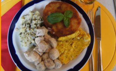 Sellerieschnitzel mit Crème fraîche Champignons und Sellerie-Kartoffel-Stampf - Rezept