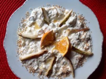 Cherimoya-Yoghurt-Dessert - Rezept