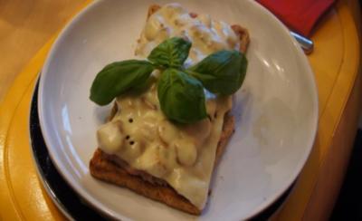 Rezept: Schinkenmett-Champignon-Toast