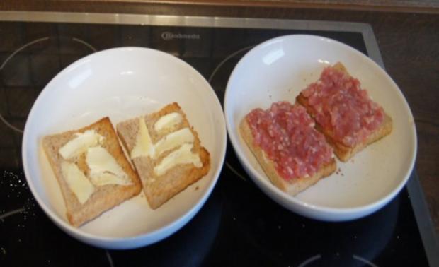Schinkenmett-Champignon-Toast - Rezept - Bild Nr. 4